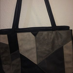 Guess Black and Gray Purse